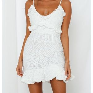 Super cute Hello Molly white dress